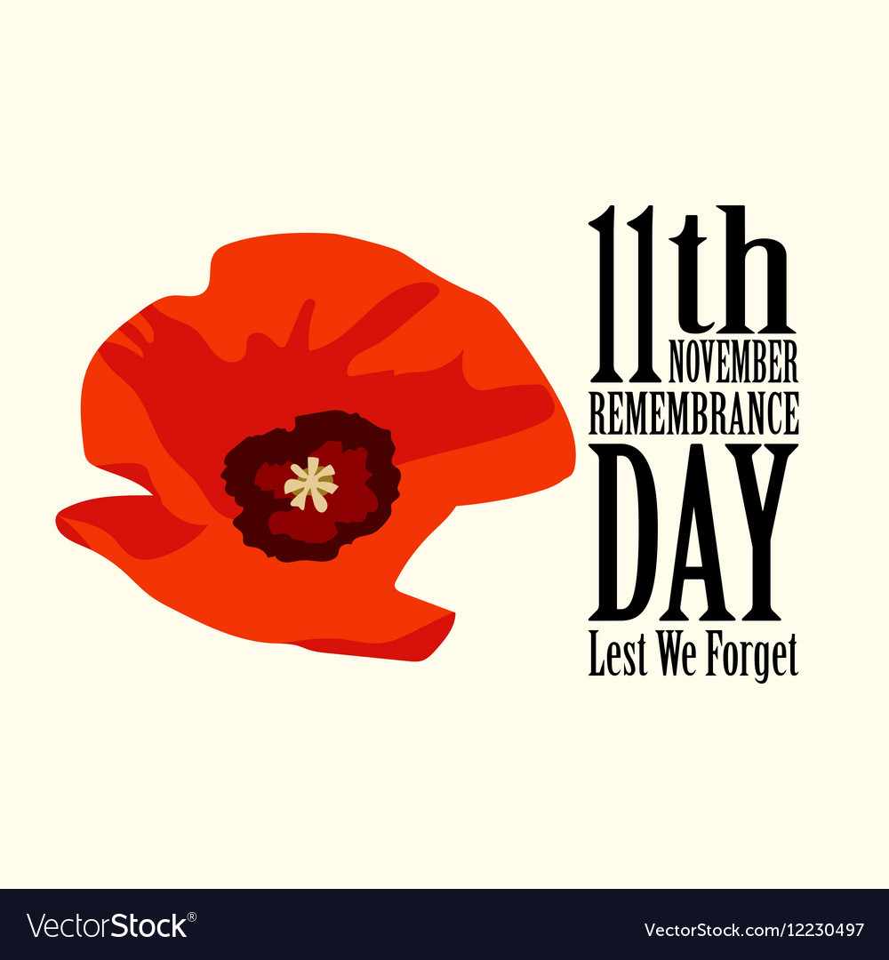The poppy flower remembrance day royalty free vector image the poppy flower remembrance day vector image mightylinksfo