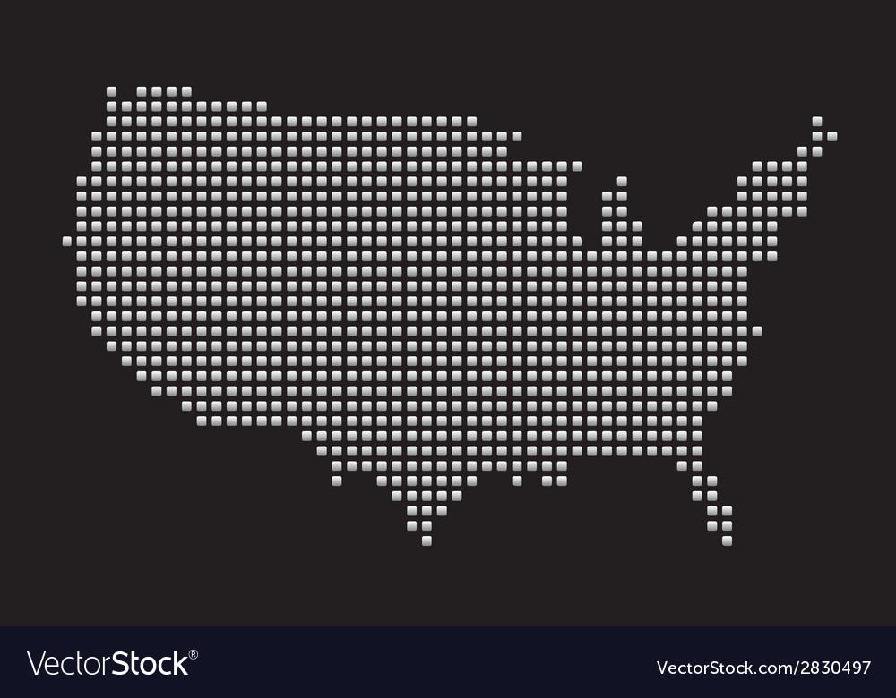 USA Map vector image