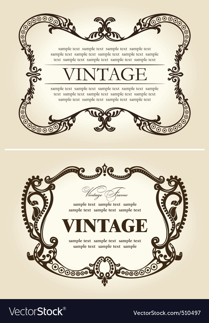 Vector vintage beige abstract frames ornament