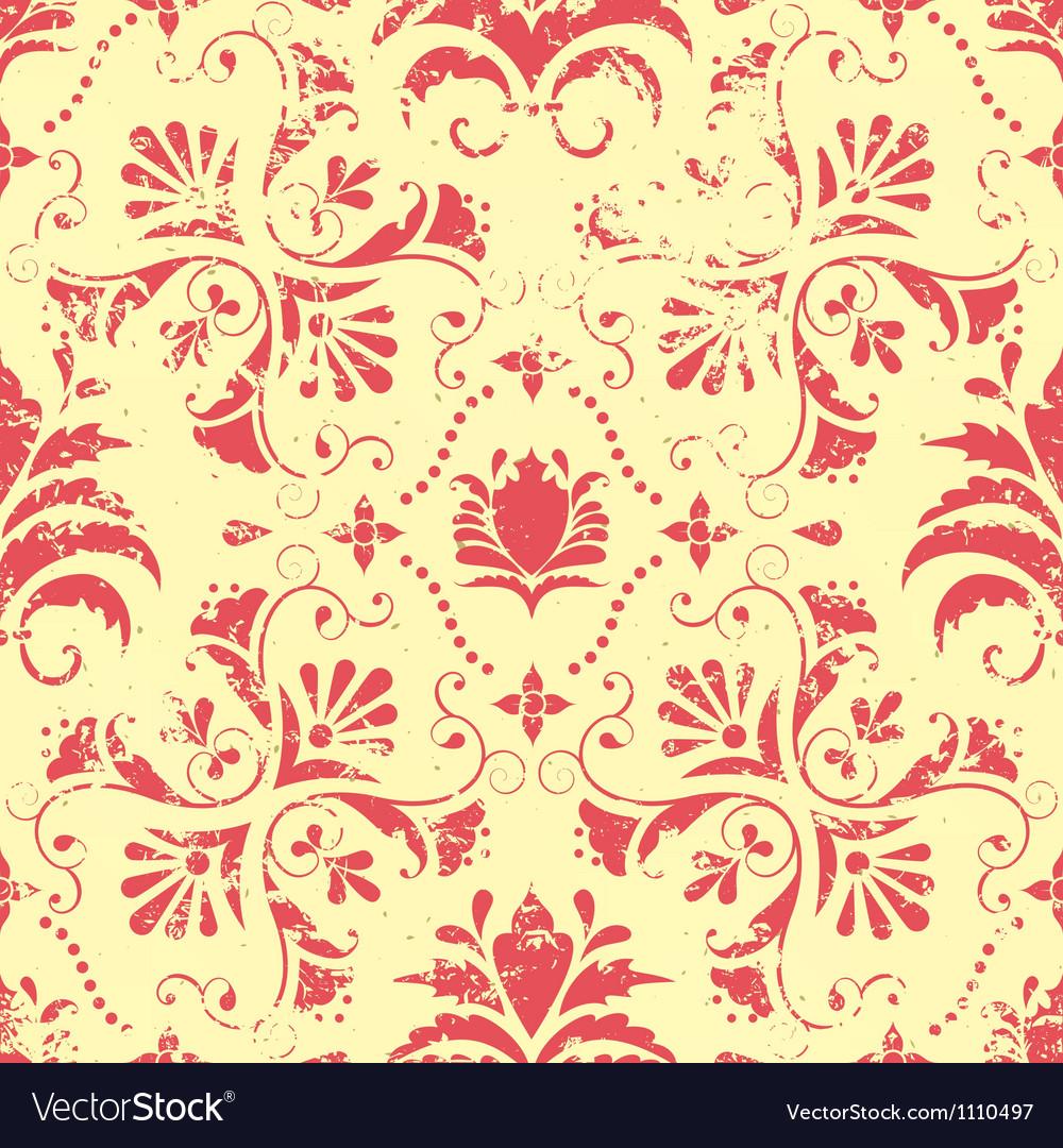 Vintage floral seamless pattern element vector image