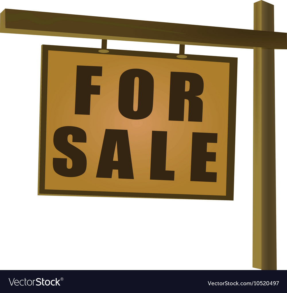 Wooden for sale sign
