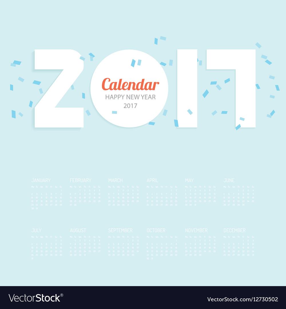 2017 Calendar Calendar Design