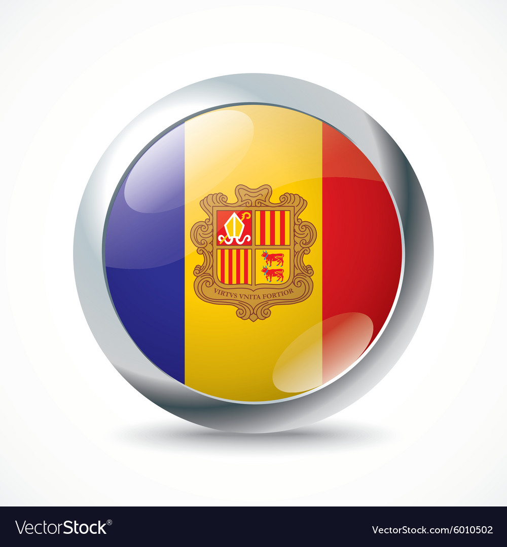 Andorra flag button