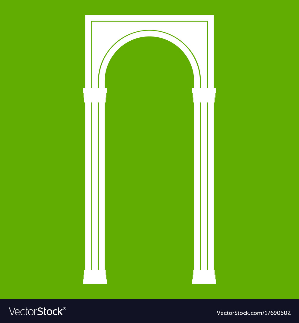 Arch icon green
