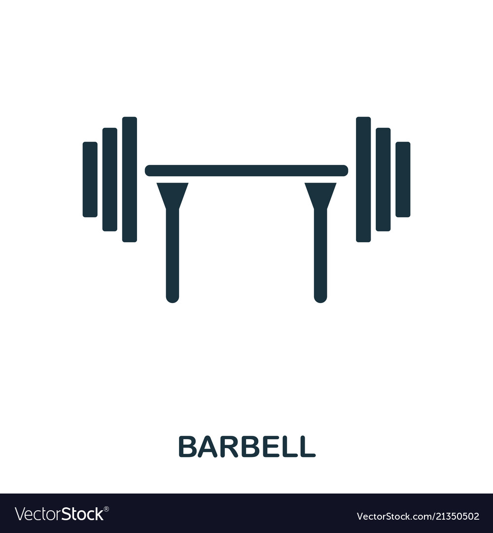 Barbell icon premium style icon design ui