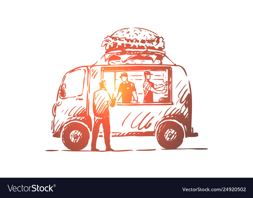 Car And Truck Shop >> Burger Car Fast Food Shop Truck Concept