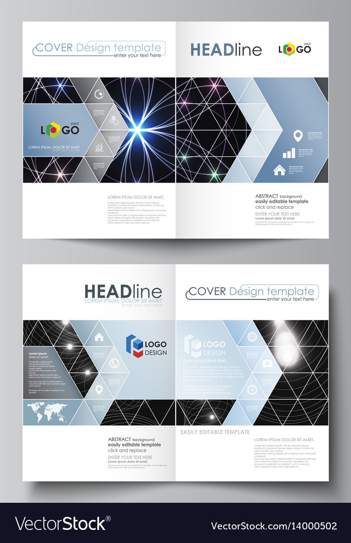 Business templates for bi fold brochure magazine