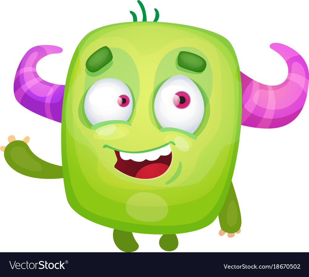 cartoon cute monster royalty free vector image rh vectorstock com monster vector headphones monster vector cdr