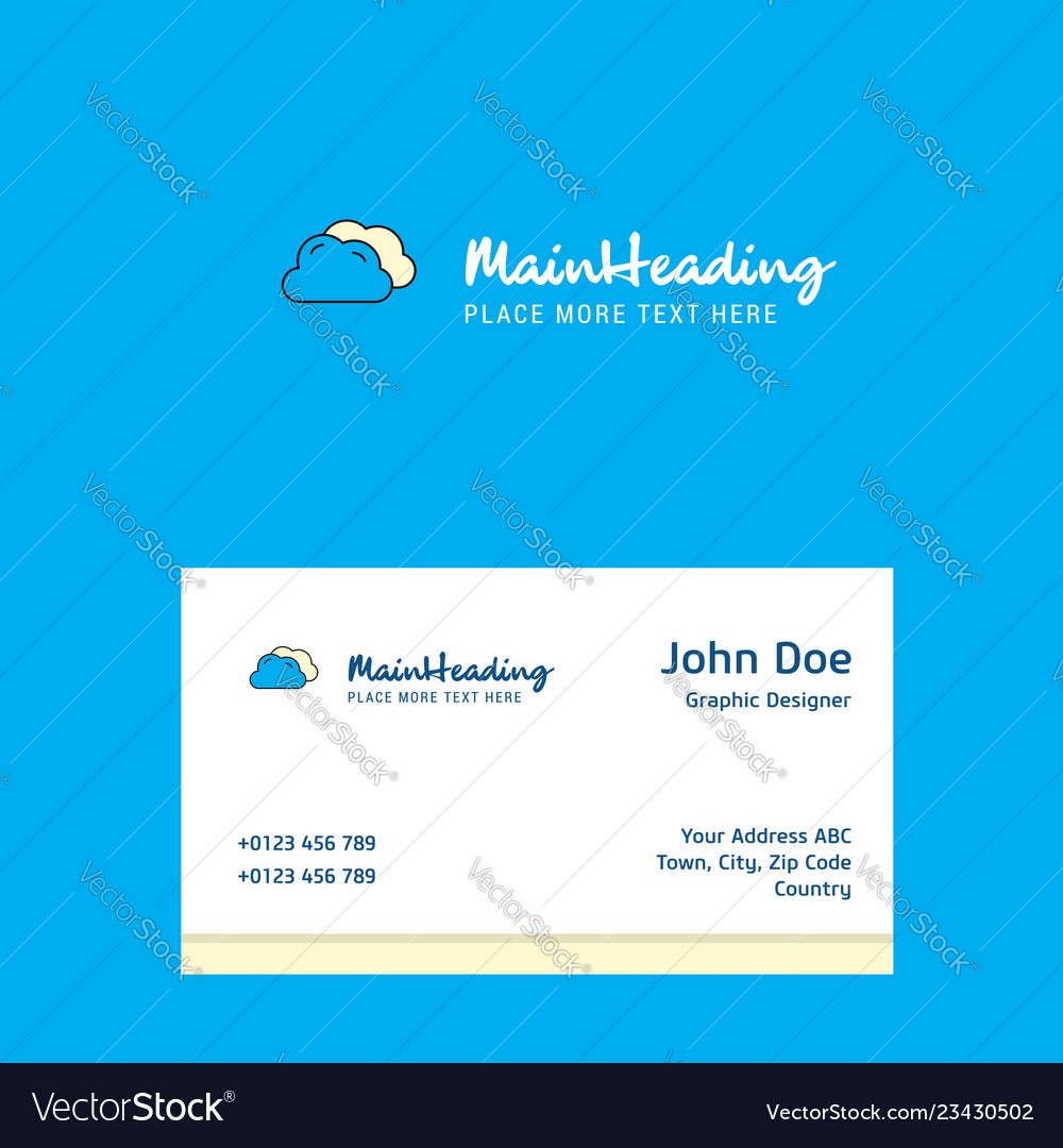 Clouds logo design with business card template