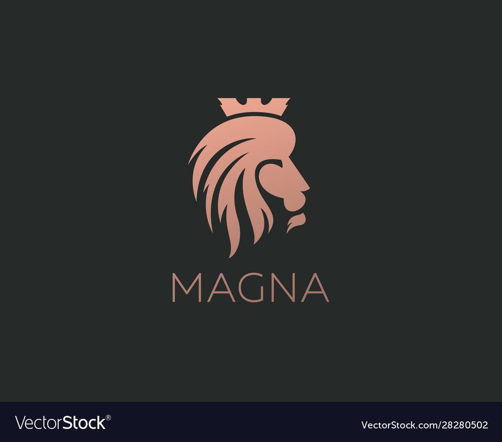 Lion logo design icon symbol logotype side