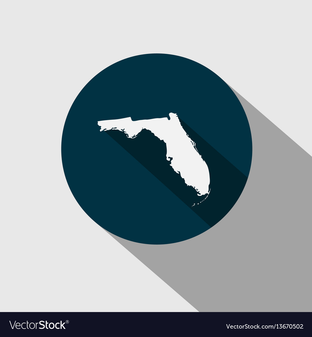 State Of Florida Map.Map Of The Us State Florida Royalty Free Vector Image
