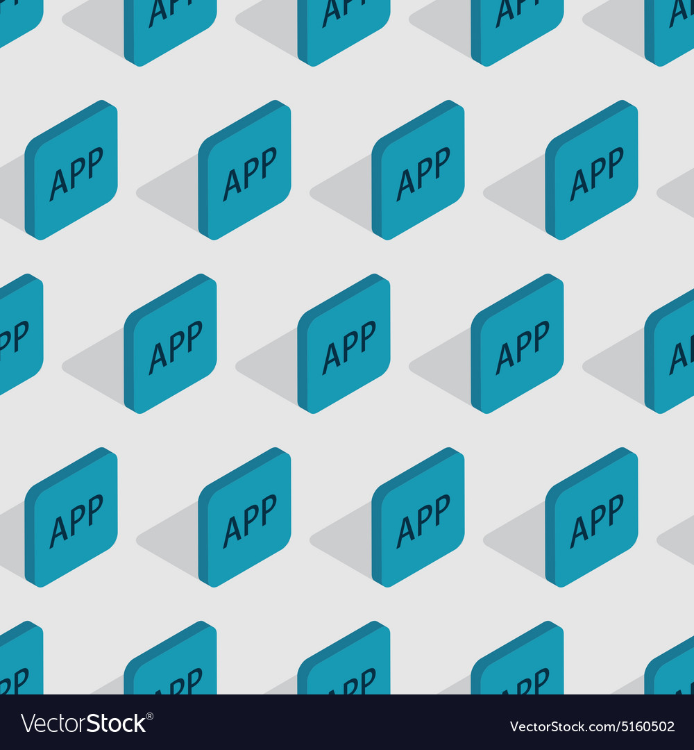 Modern app seamless background design vector image
