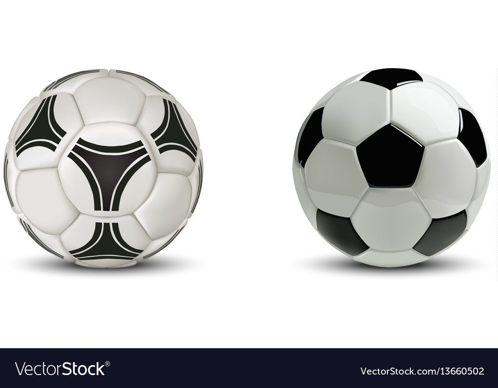 Realistic soccer ball or football ball isolated