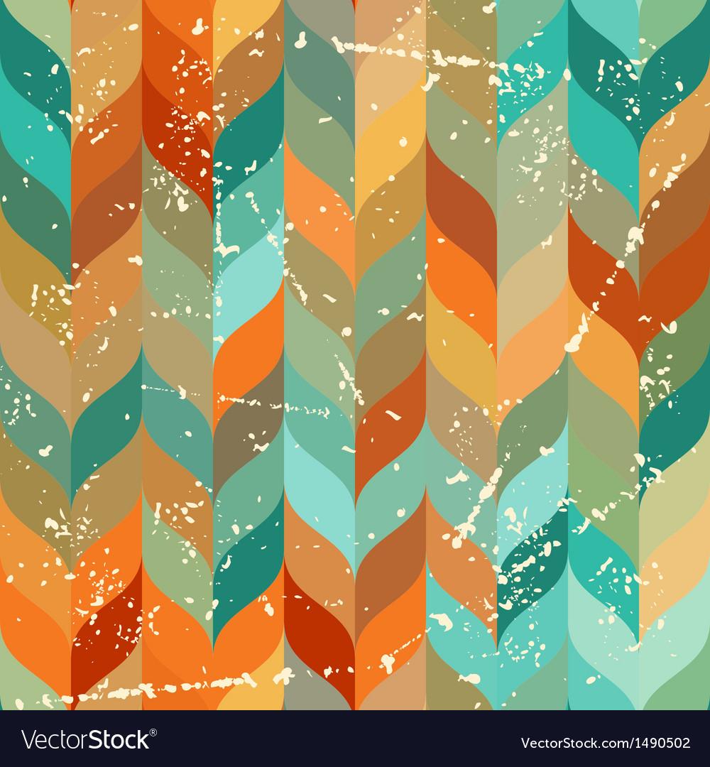 Seamless grunge pattern in retro style