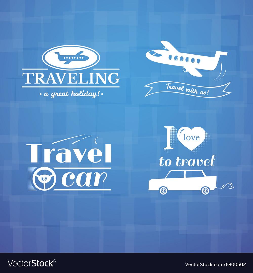 Travel logo and label set typography design