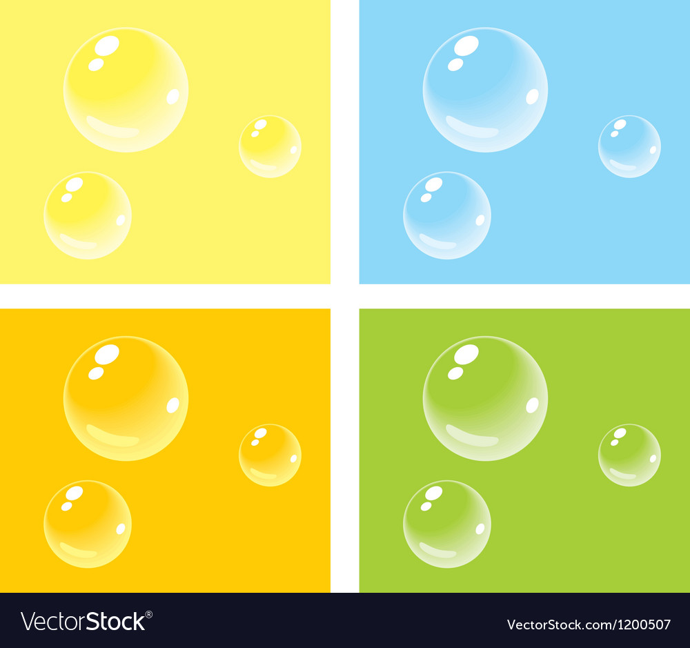 bubbles on colored backgrounds royalty free vector image
