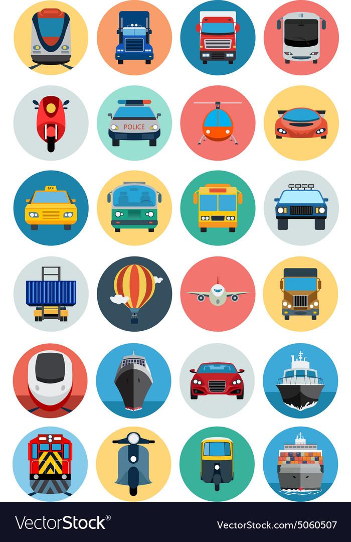 Flat Transport Icons 1
