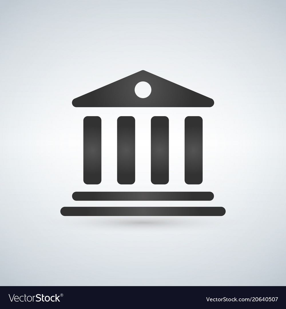 House with columns icon building of bank vector image