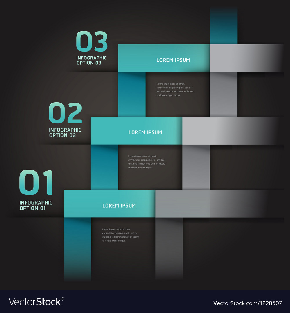 Modern infographics arrow origami style vector image