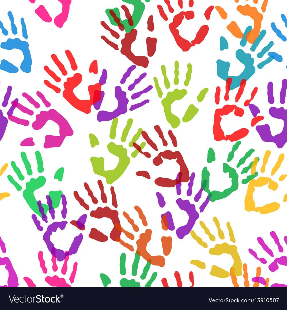 Seamless texture handprints