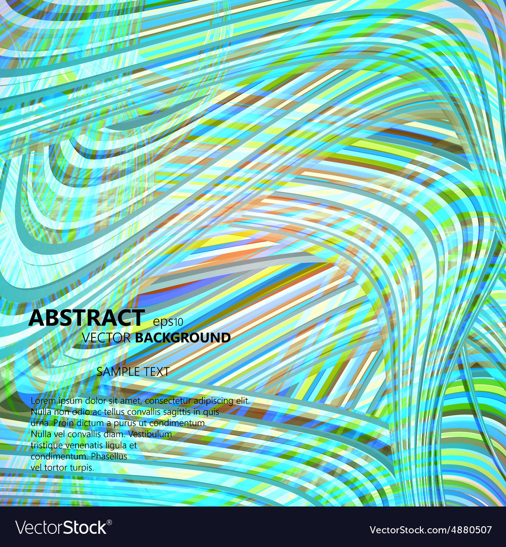 Set of abstract color wavy backgrounds