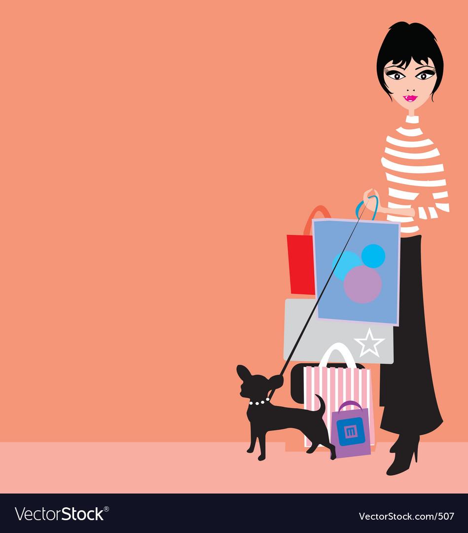 Shopping girl with chiwawa