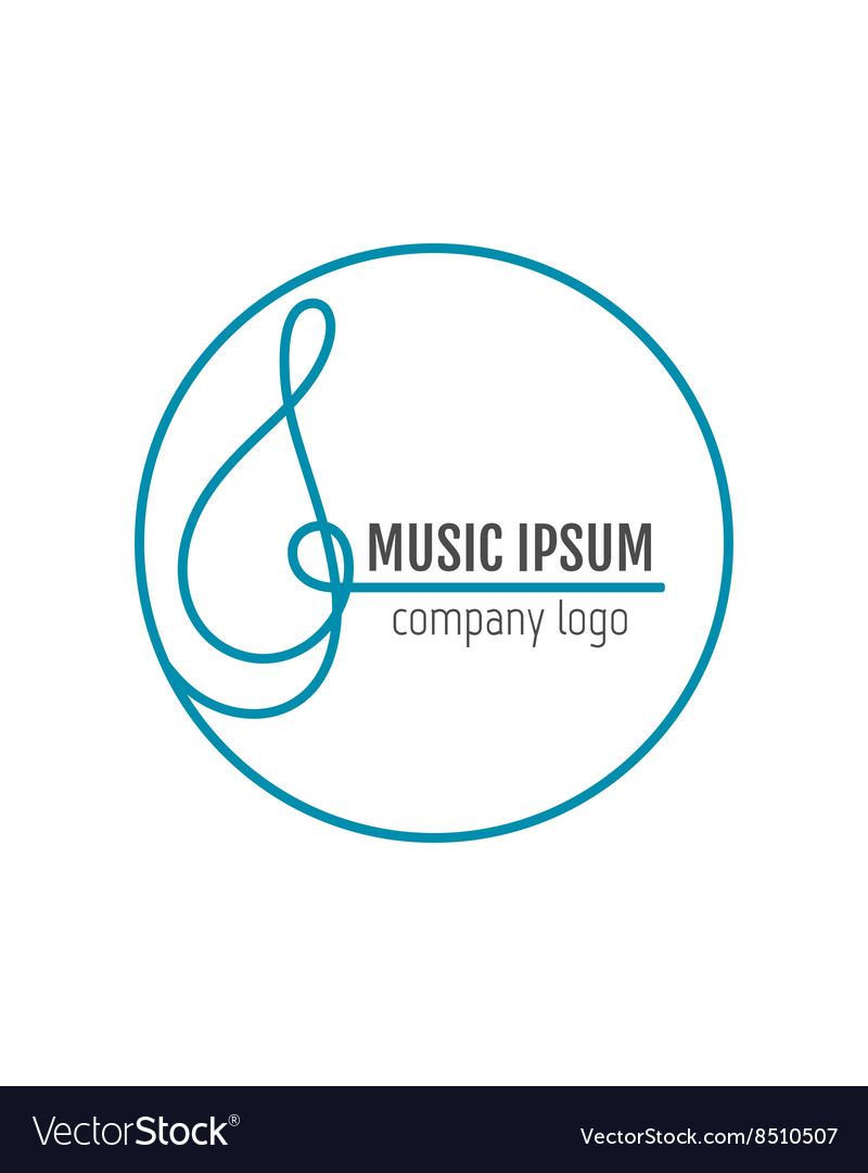Treble clef Business art music logo for company