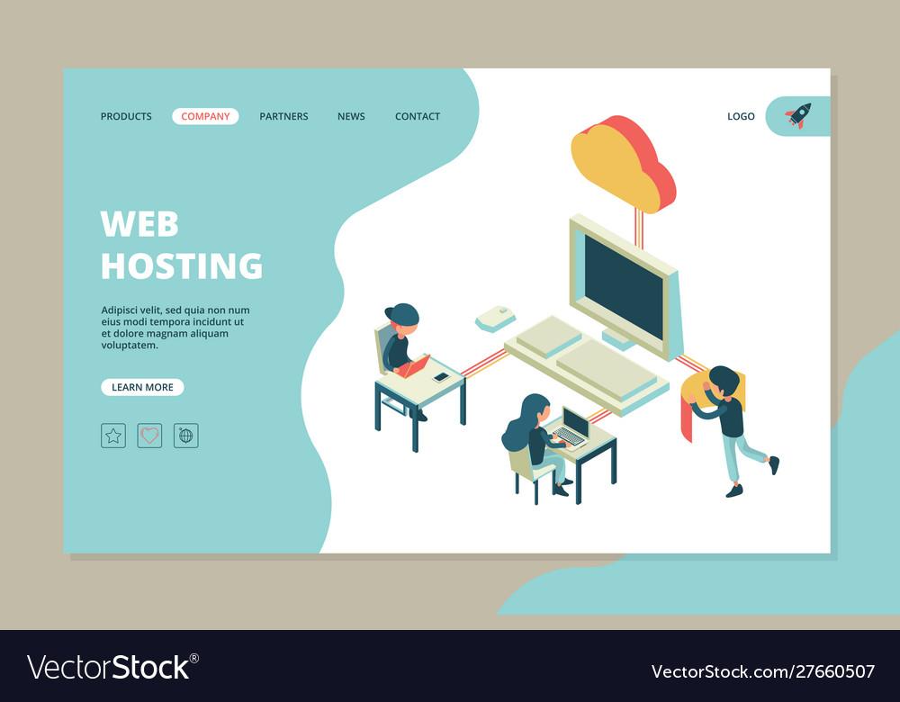 Web hosting landing business web page computer