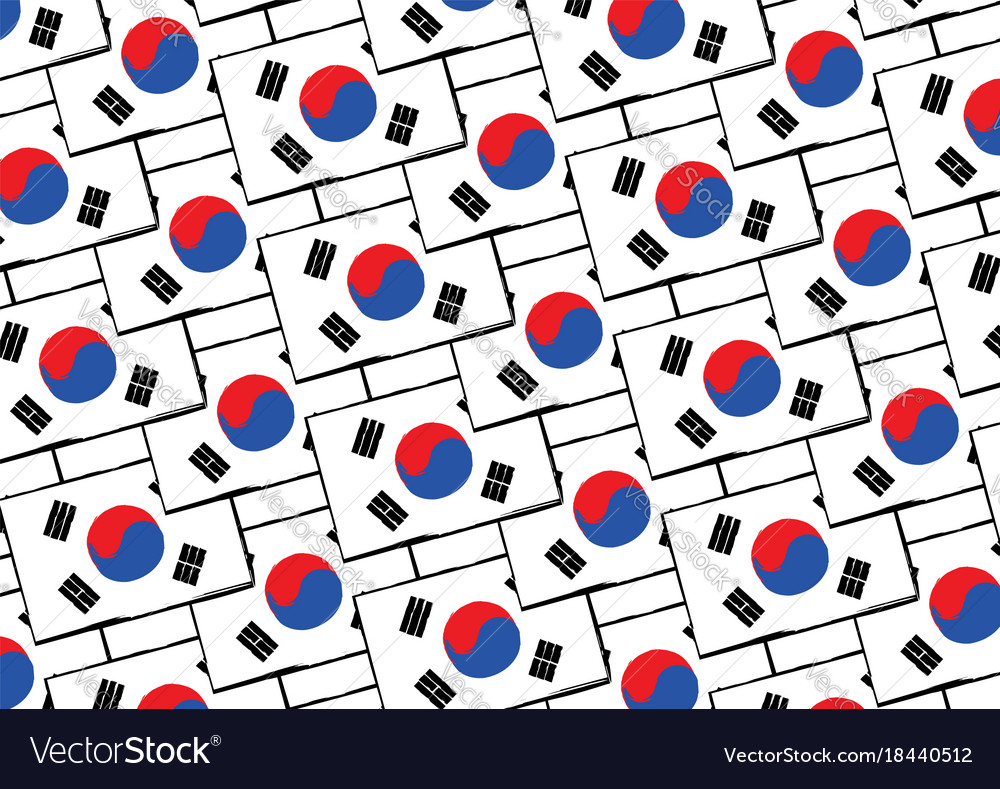Abstract south korea flag or banner