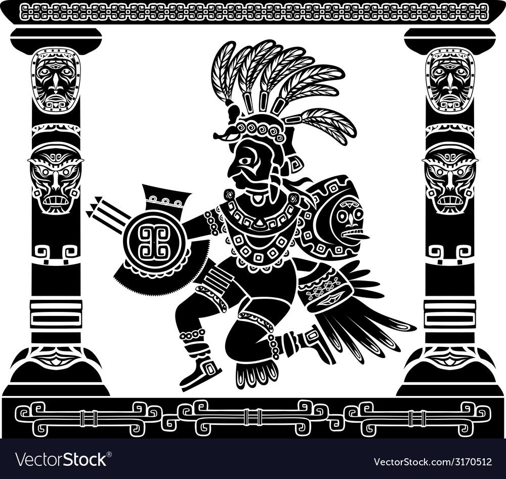 Aztec god Quetzalcoatl