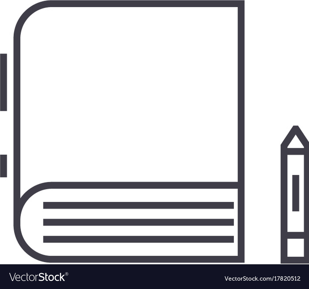 Book line icon sign on