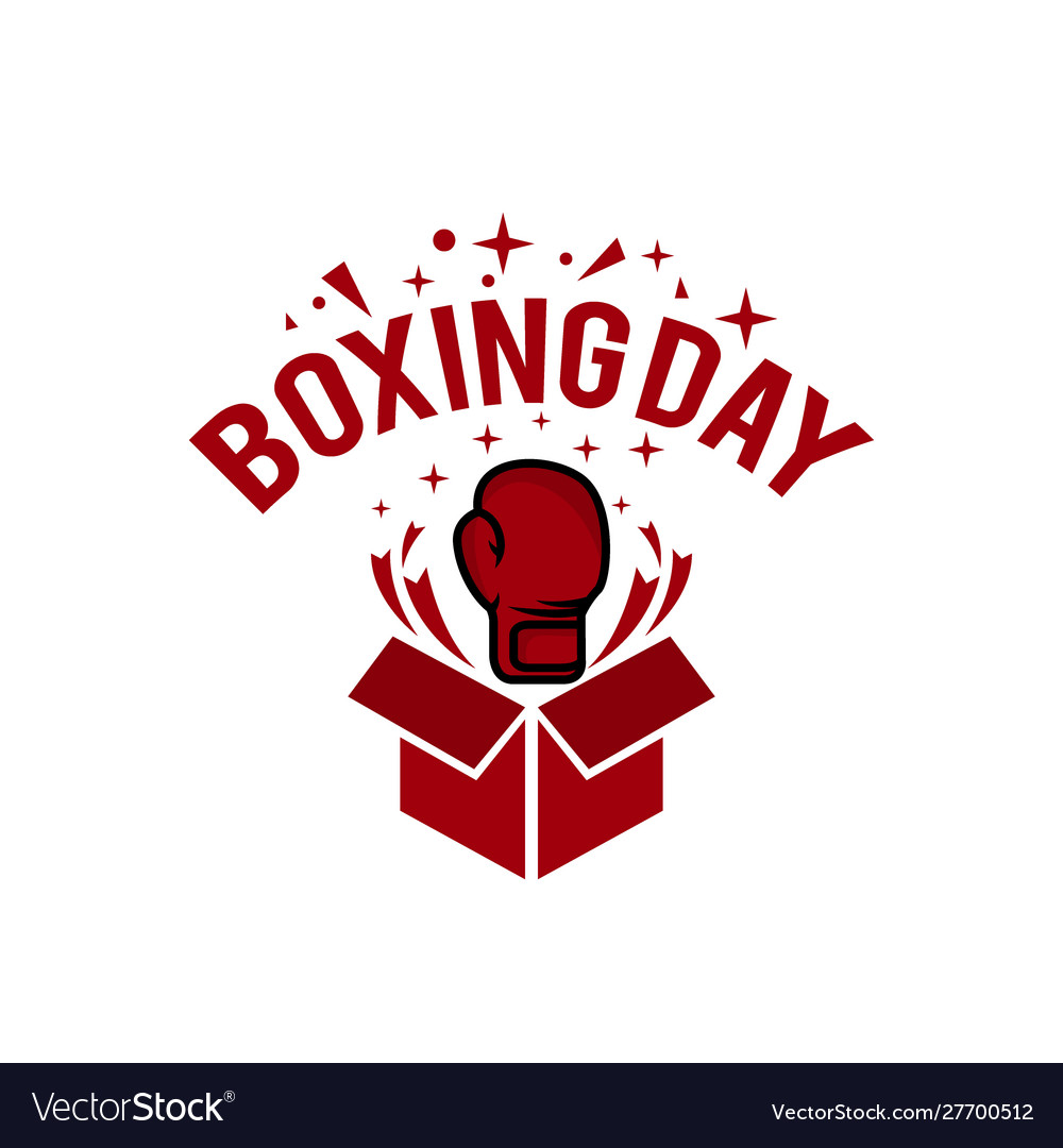 Boxing day typography combined in a shape