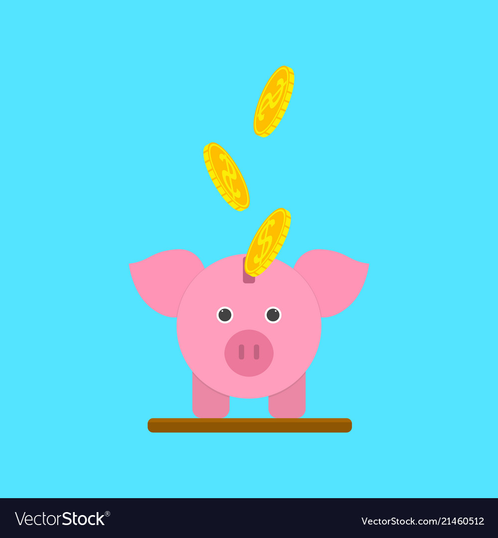 cartoon piggy bank or moneybox for card poster vector image