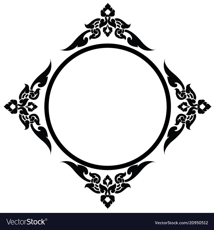 Circle frame of thai pattern