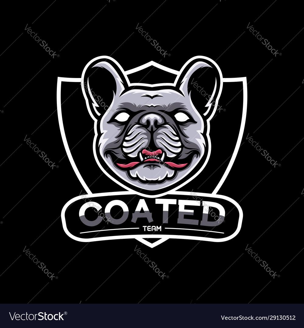 French bulldog mascot logo short hair coated dog