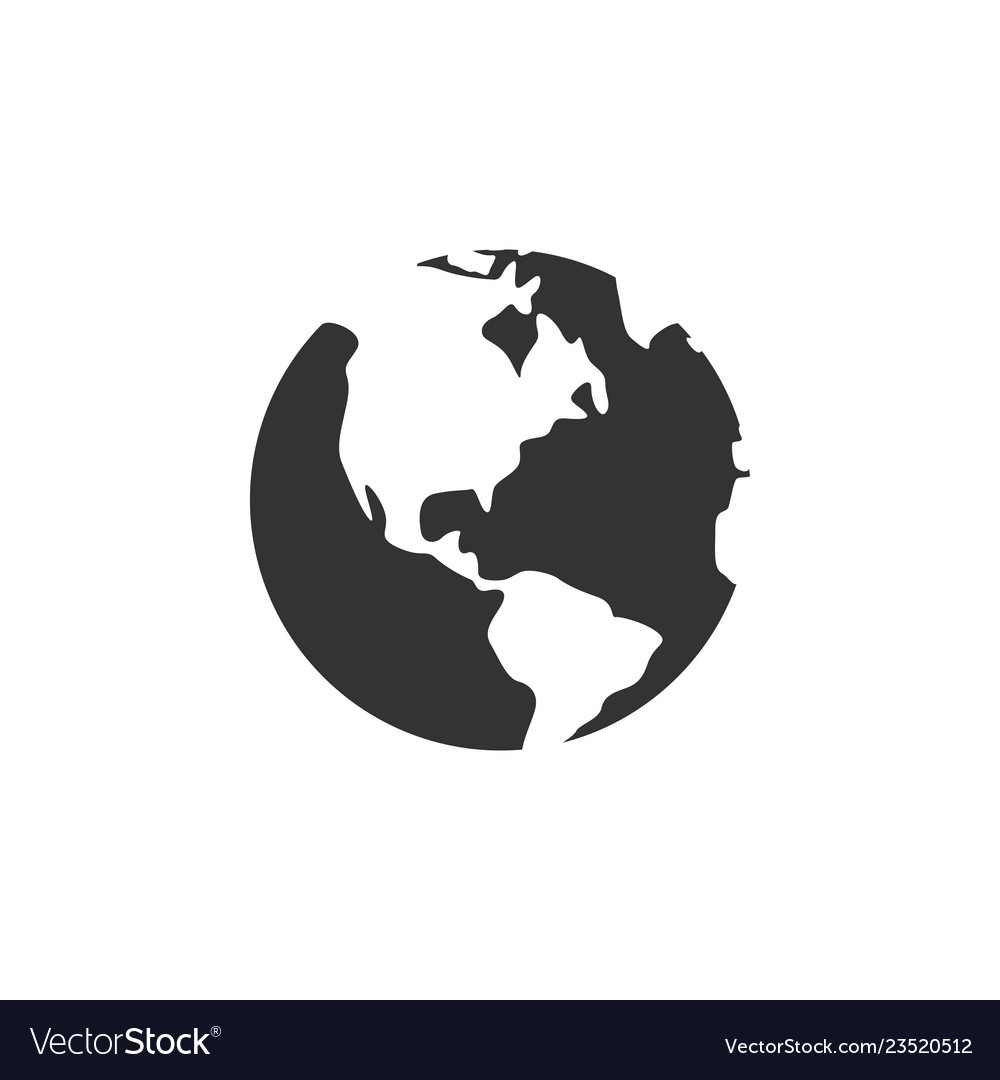 Globe icon graphic design template