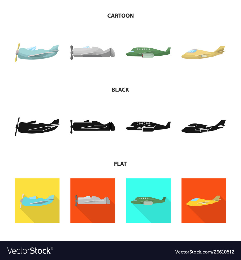 Isolated object travel and airways icon set of