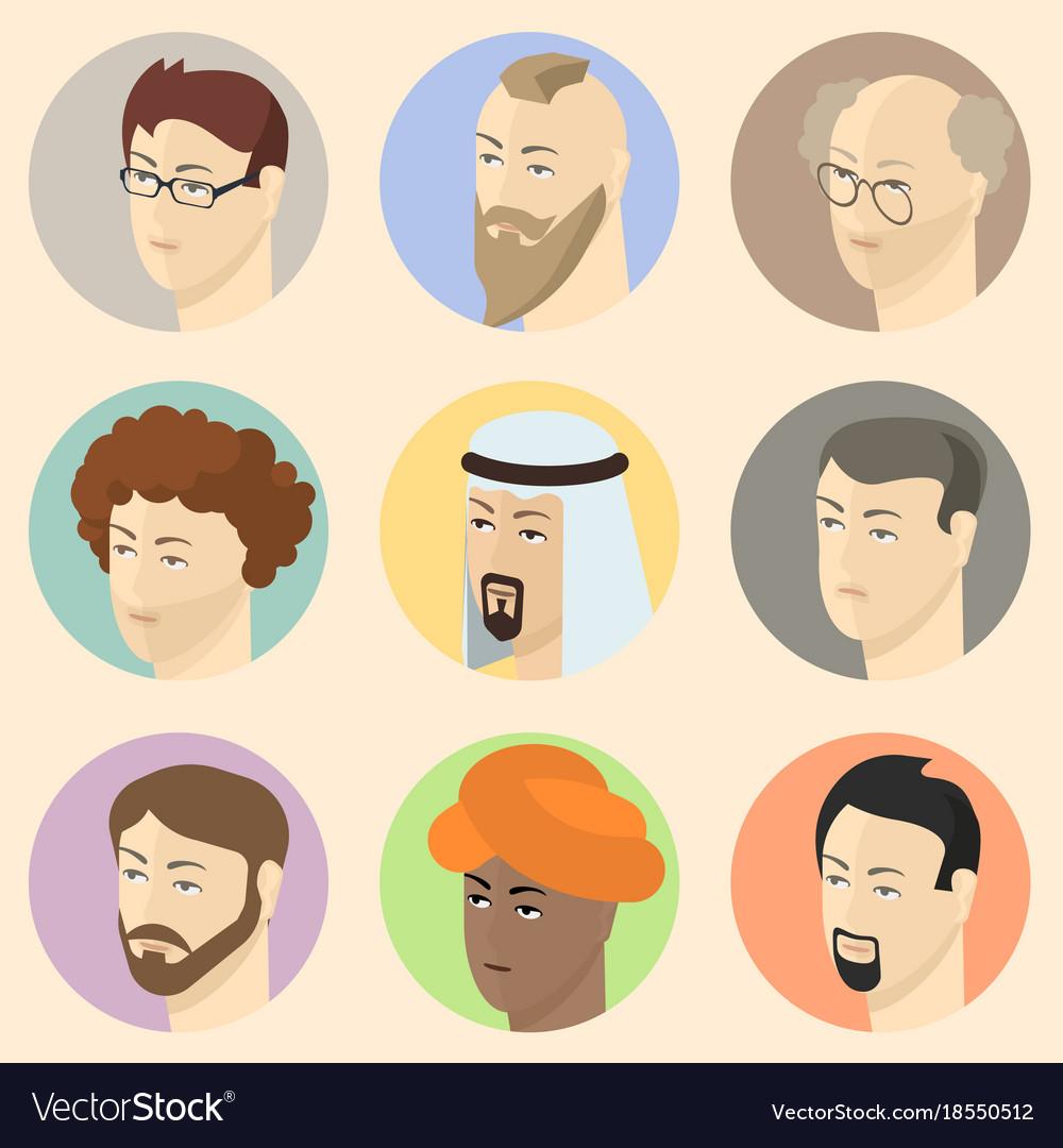 Isometric people heads vector image