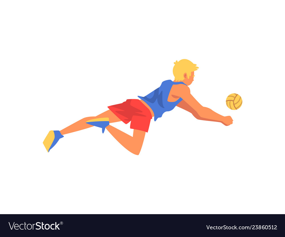 Male volleyball player professional sportsman