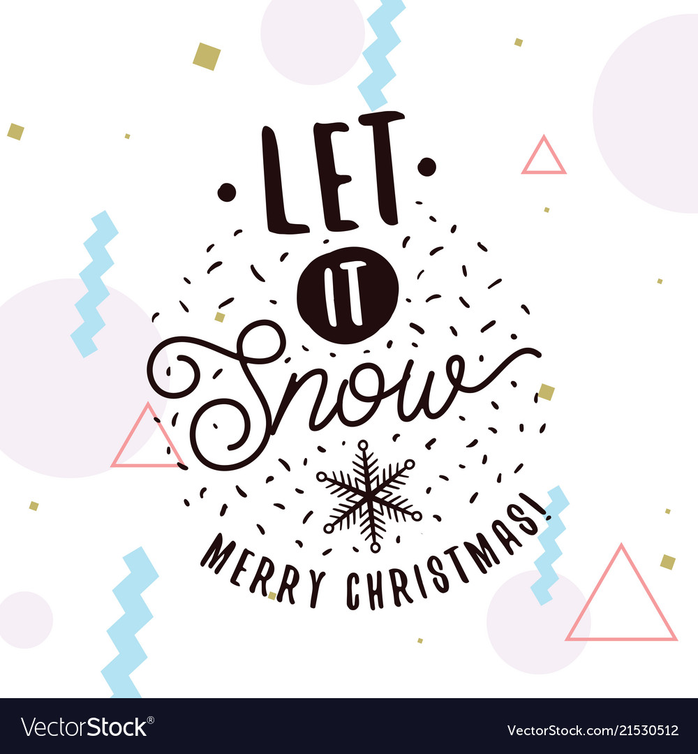 Merry christmas typography Royalty Free Vector Image