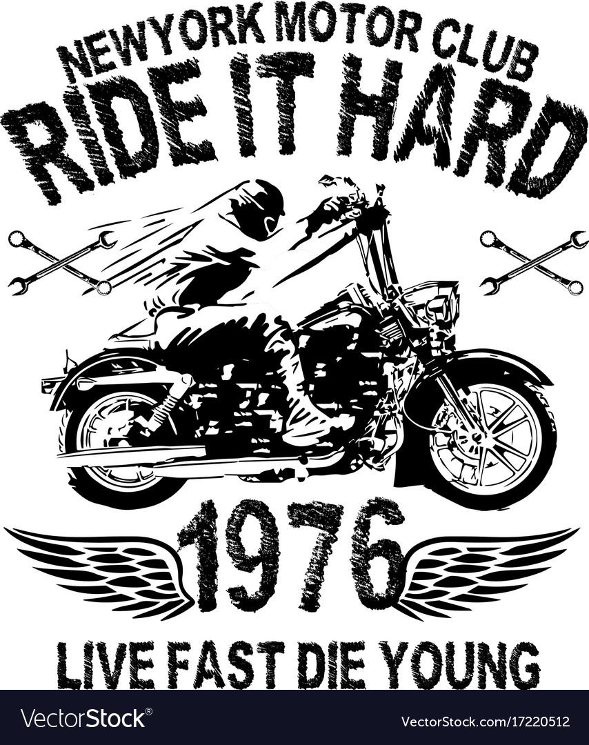 Motorcycle typography vintage motor t-shirt