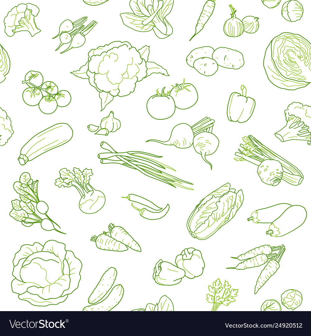 Vegan food seamless pattern design template