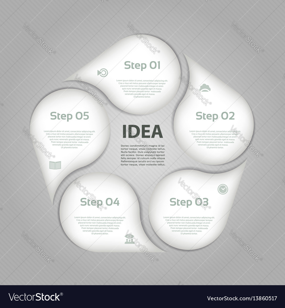 Business concept with 5 options vector image