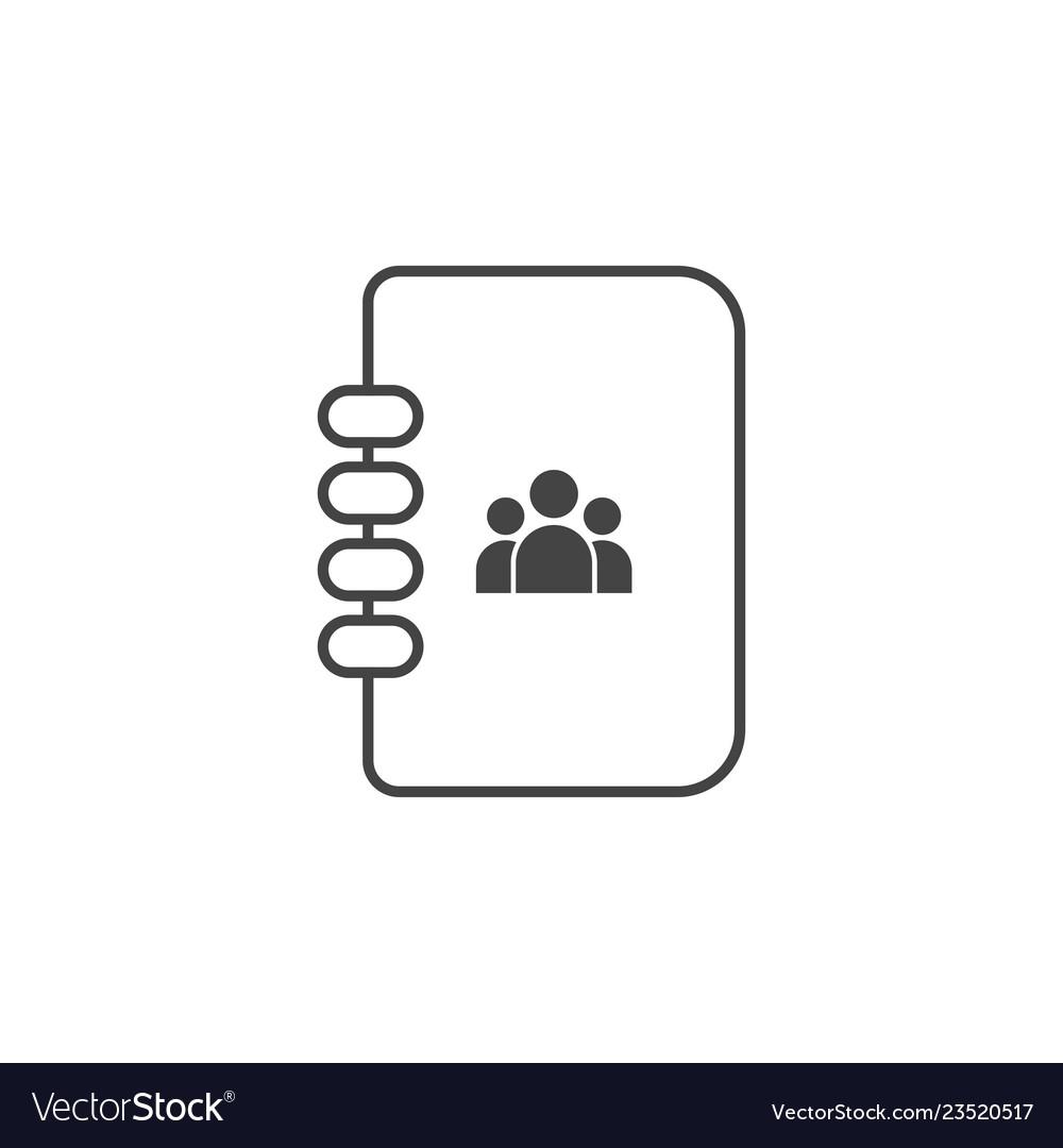 Contact book icon graphic design template