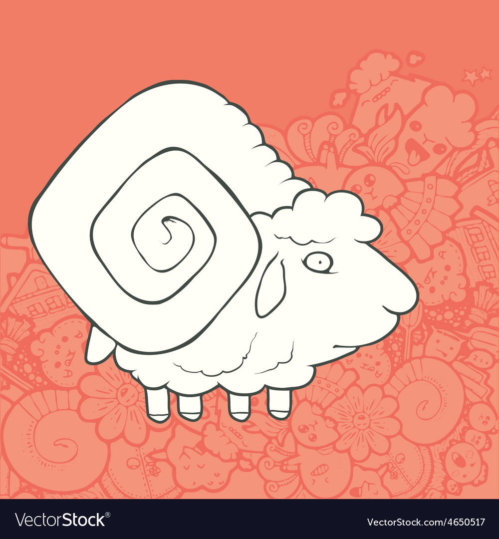 Cute Hand Drawn Sheep