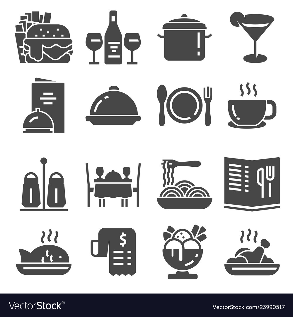 Restaurant icon set suitable for info graphics