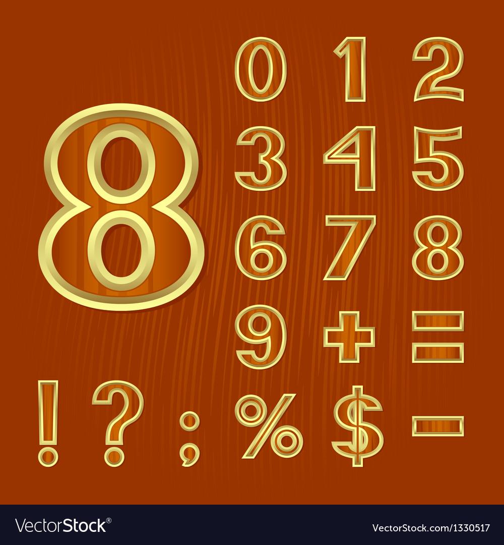Set Of Mathematical Symbols Royalty Free Vector Image