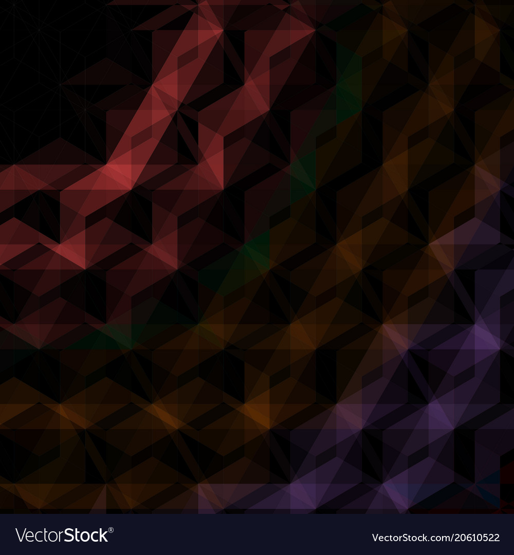Abstract black triangles background vector image