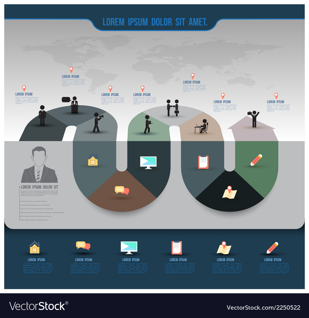 Abstract business info graphics template with icon