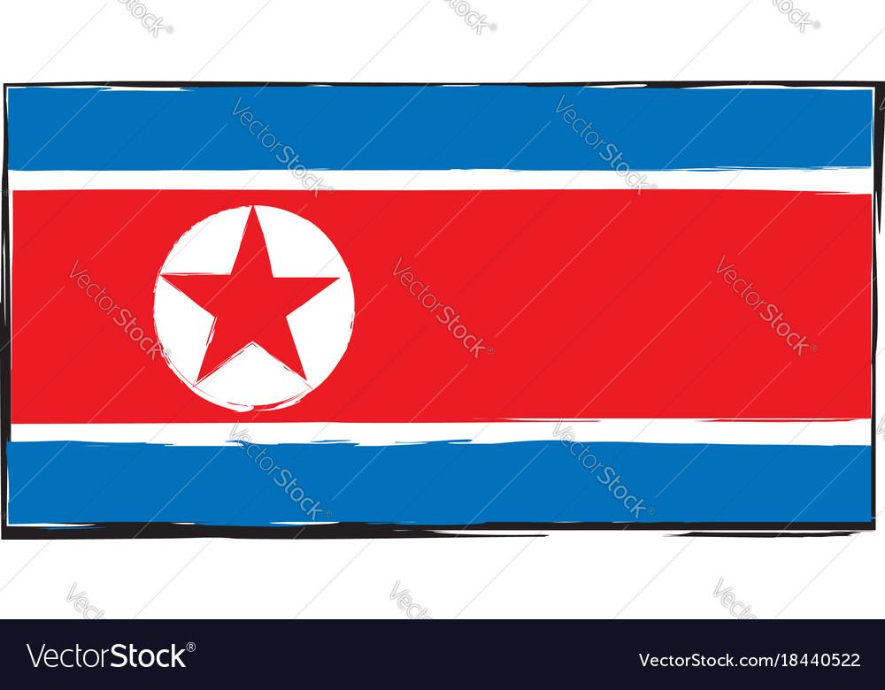 Abstract north korea flag or banner